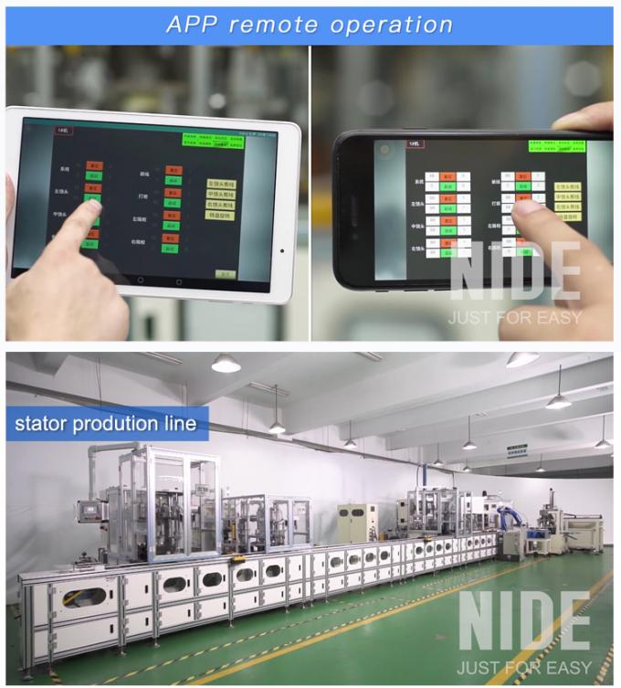full aotumatic coil winding mahcine stator production line for  three phase washing machine