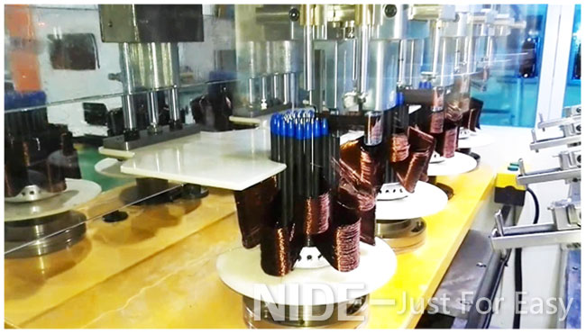 fan motor stator winder coil winding machine