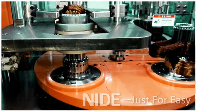 stator coil winding and inserting machine for fan motor and generator motor