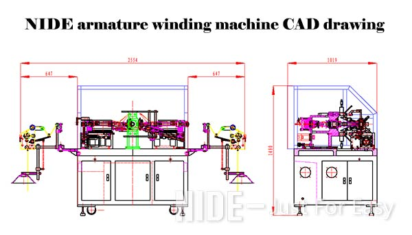 Armature Rotor Automatic Winding Machine With Air Pressure 0.5 - 0.7 Mpa