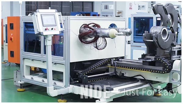 auotmatic stator coil inserting and expanding machine