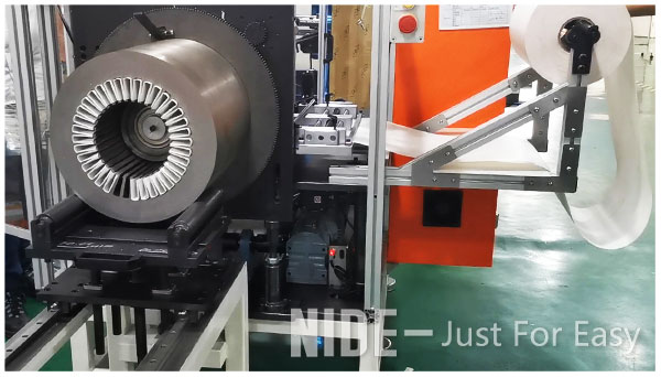 Automatic submersible motor stator paper inserting machine for large electric motor manufacturing-1