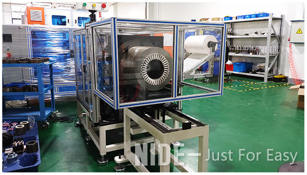 Automatic submersible motor stator paper inserting machine for large electric motor manufacturing-2