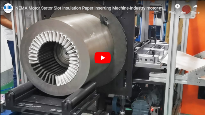 Submersible Stator Paper Inserting Machine 3.5KW Power For Large Electric Motor