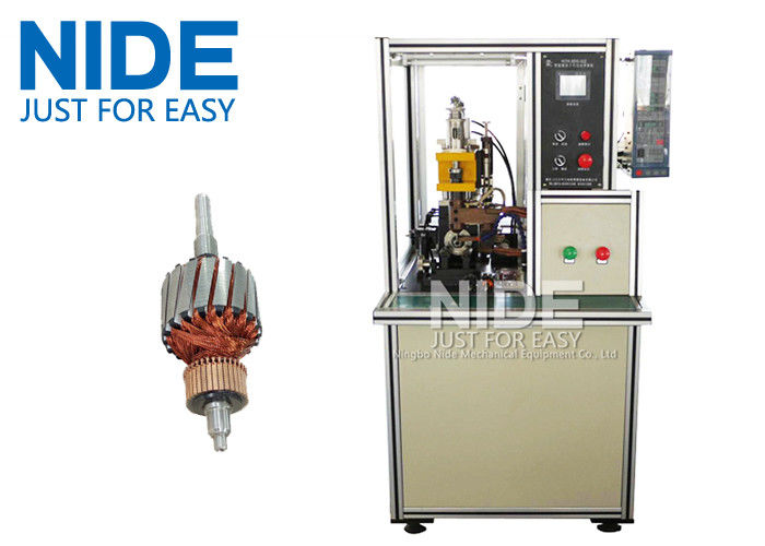 High frequency DC motor commutator hot-melt welding machine , Commutator O.D 5~60mm