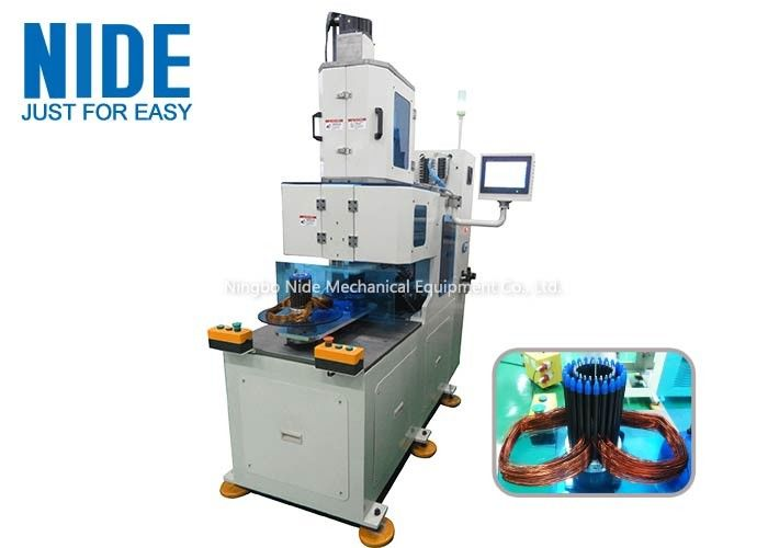 Vertical Alternator Stator Winding Machine / Motor Stator Coil Winding Machine