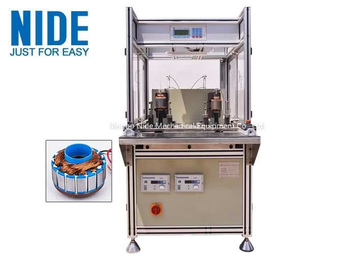 Single Flyer Automatic Coil Winding Machine 2 Stations For Fan Motor