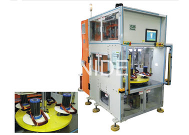 Vertical Type Stator Automatic Coil Winding Machine With Double Heads