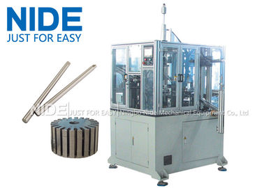 4KW Rotor Assembly Line , Servo Automatic Armature Commutator Shaft Inserting Machine