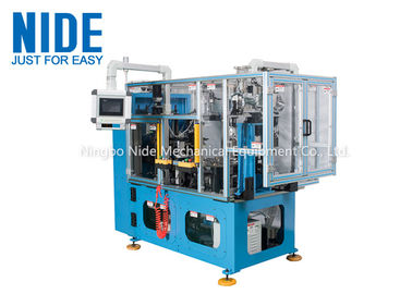 Compression motor automatic stator coil lacing machine , four working station machine