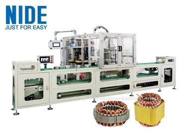 Full automatic Induction Motor Stator Wire Lace Machine production assembly line / 4 stations Coil Lacer Machine